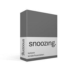 Snoozing katoenen hoeslaken antraciet