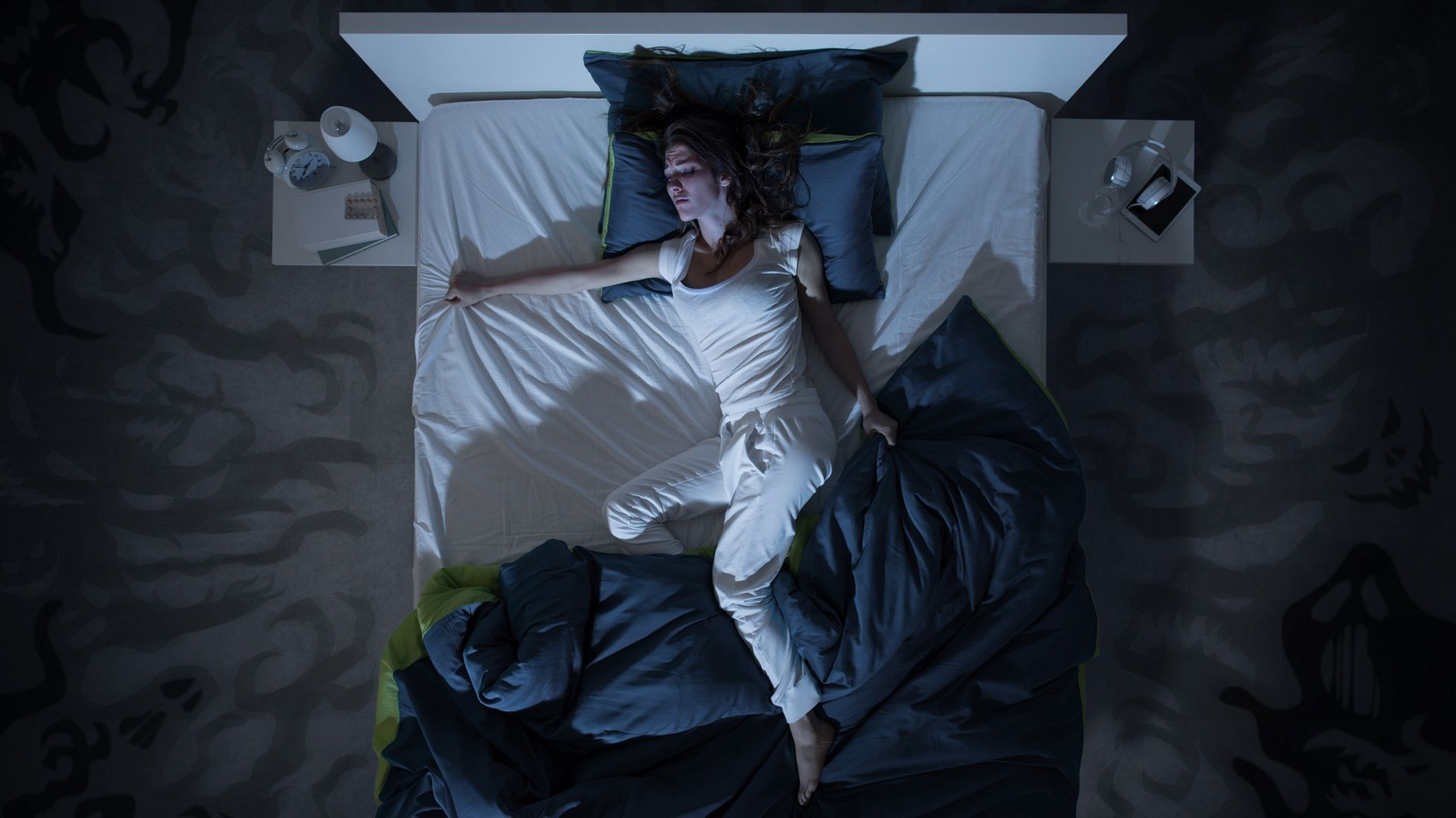 Minder zweten in bed