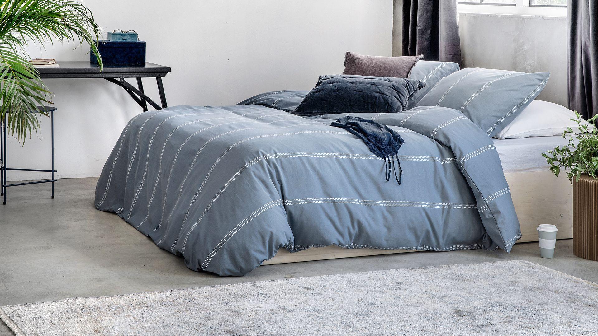 Walra Remade Cotton Blend dekbedovertrek blauw