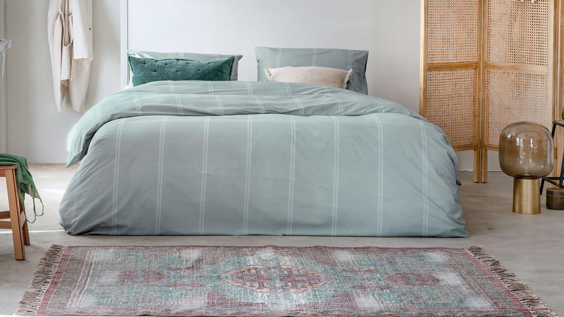 Walra Remade Cotton Blend dekbedovertrek groen