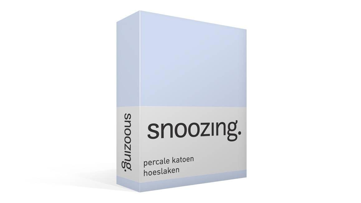 Snoozing percale katoen hoeslaken