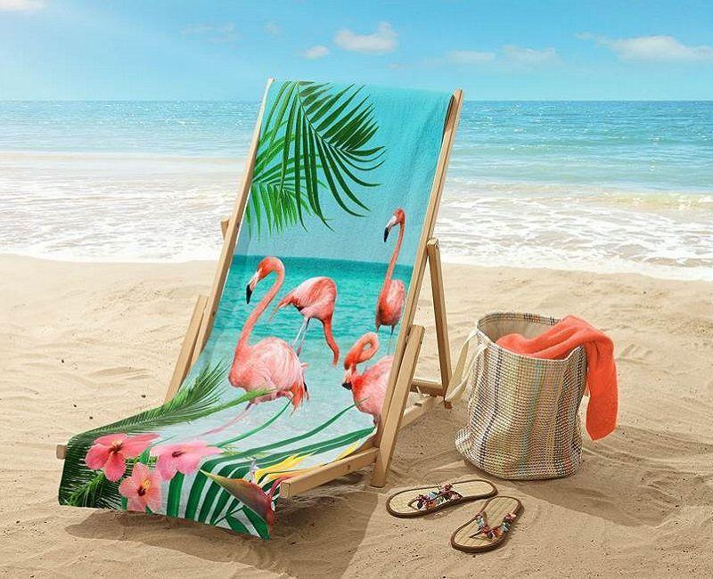 Good Morning Flamingo strandlaken