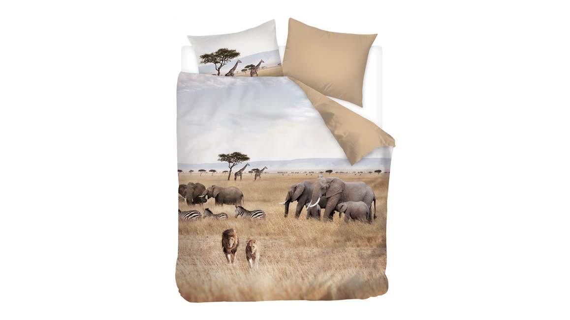 Snoozing African Animals dekbedovertrek