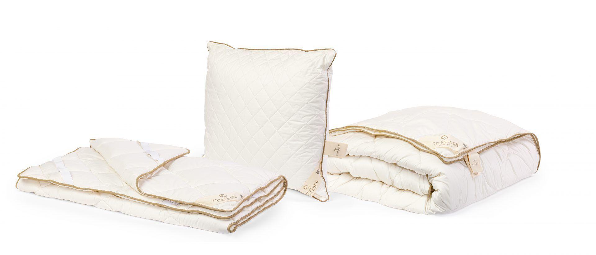 Tesselaar wollen dekbed, hoofdkussen en onderdeken