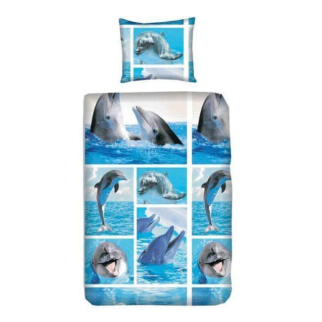 Snoozing Dolphins flanel dekbedovertrek