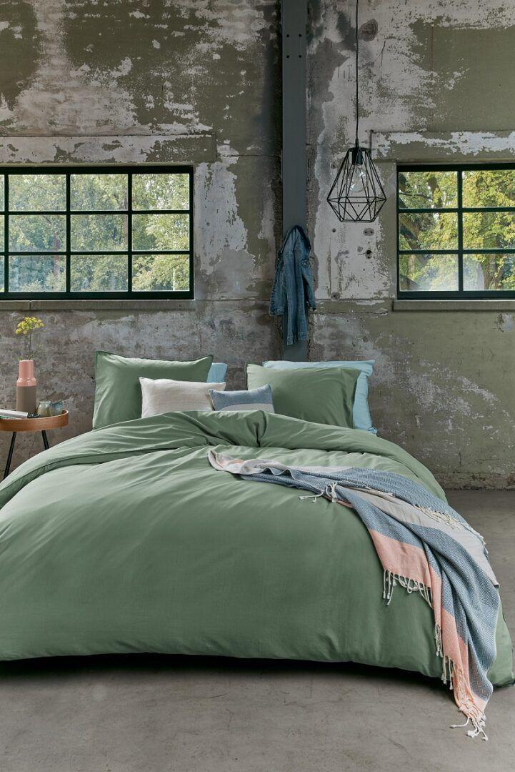 Beddinghouse Organic Basic dekbedovertrek - Green
