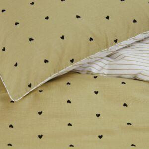 Striped Hearts dekbedovertrek Yellow