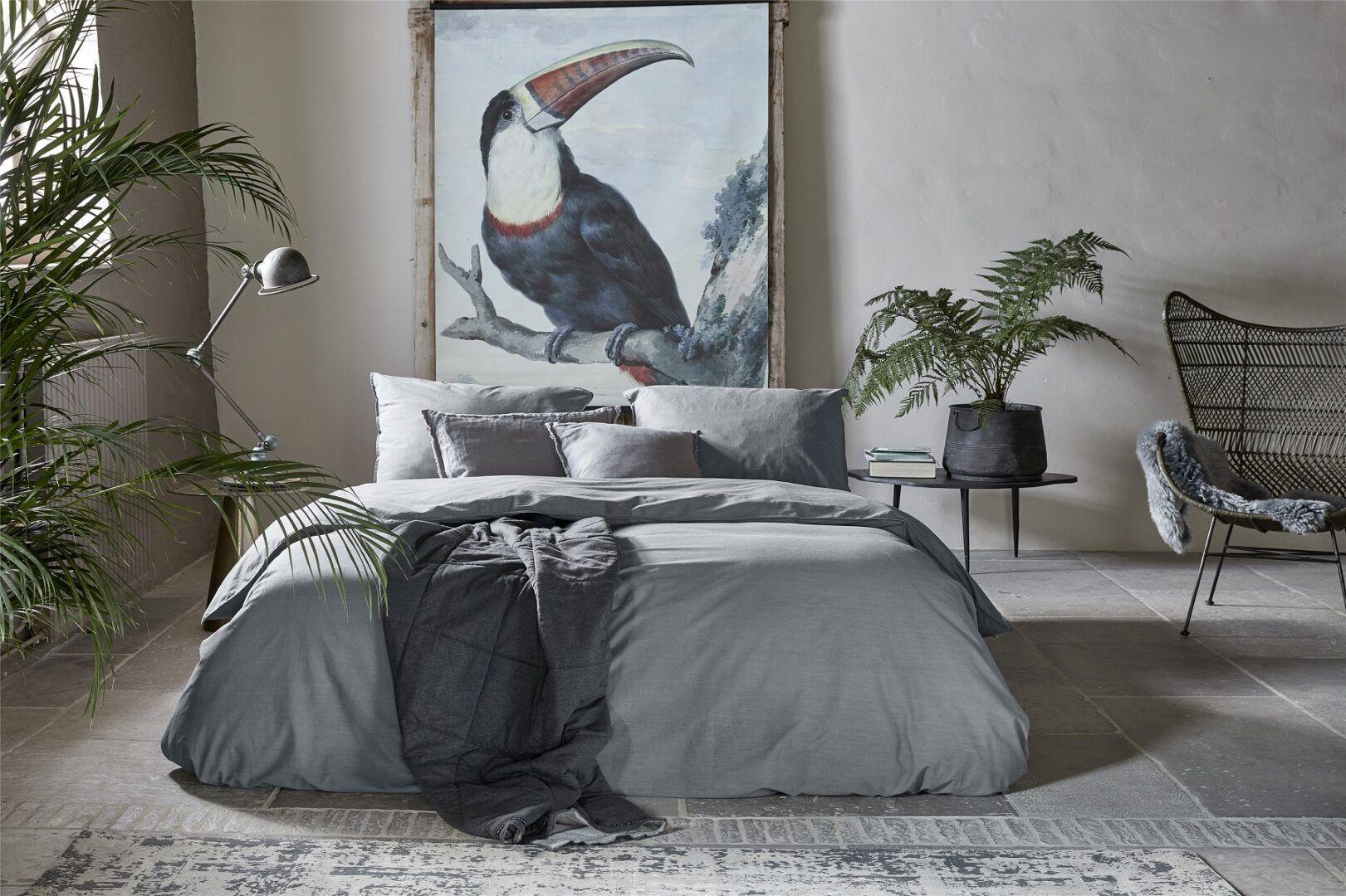 Walra Vintage Cotton dekbedovertrek elephant grey