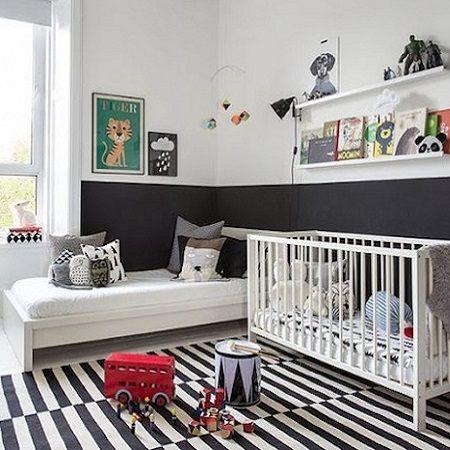 Kinderkamer met twee aparte bedden