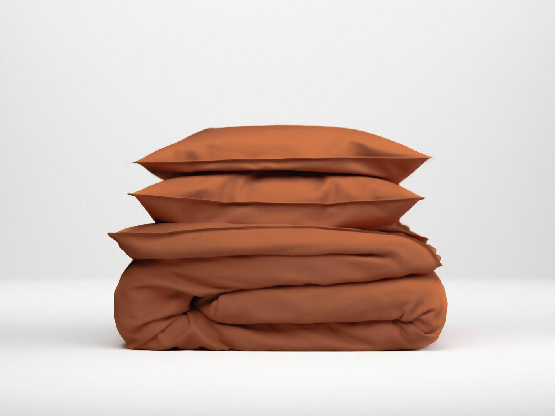 Zo!Home dekbedovertrek Satinado - Copper orange