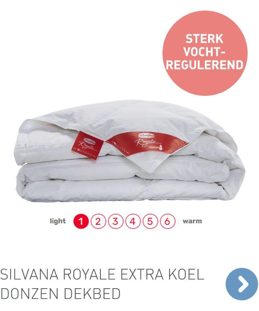 Silvana Royale Colortemp extra koel donzen dekbed