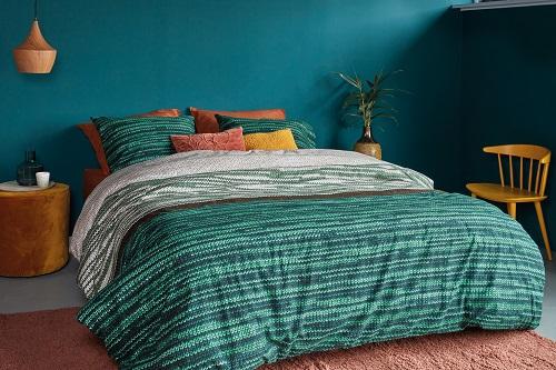Beddinghouse Fardau flanel dekbedovertrek - groen