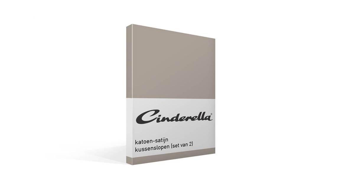 Cinderella satijn kussensloop (set van 2)